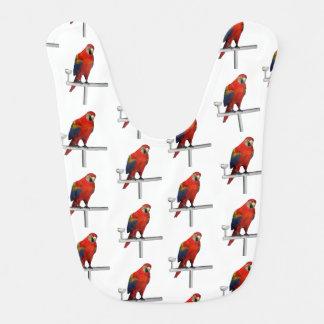 Red Parrot Scarlet Macaw Bib