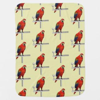 Red Parrot Scarlet Macaw Stroller Blanket