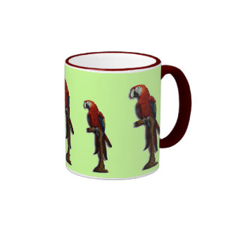 Red Parrots mug - customized