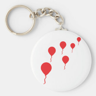 red party balloons icon basic round button keychain