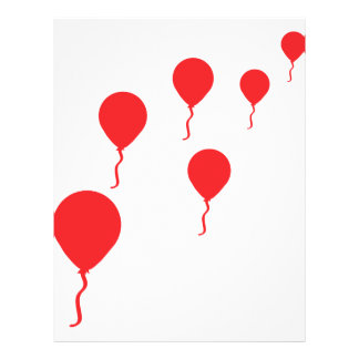 red party balloons icon full color flyer