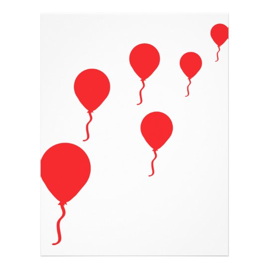 red party balloons icon flyer