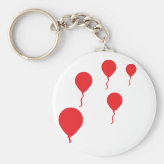 red party balloons icon keychain