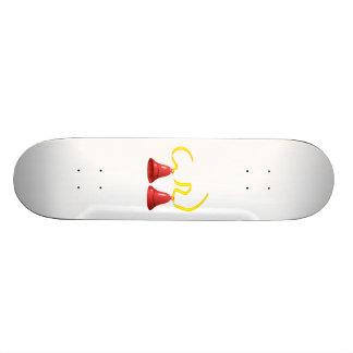 Red Party Bells Custom Skate Board