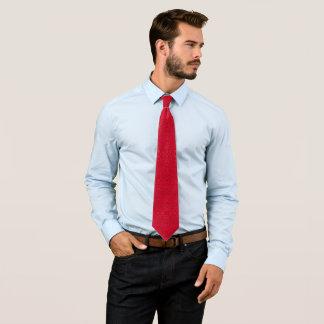 Red Pasmore Ripple Pattern Woven Gentlemen's Neck Tie
