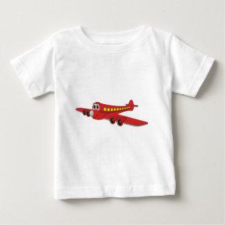 Red Passenger Jet Cartoon Baby T-Shirt