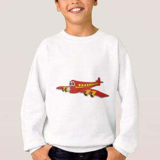 Red Passenger Jet O Cartoon Sweatshirt