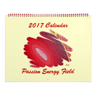 Red Passion 2017 Calendar Chakra Energy Huge