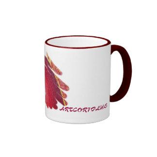 Red Passion Art Spirals Mug