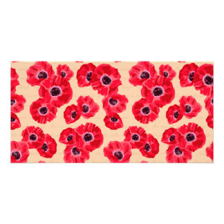 Red Passion Flowers Pattern Card