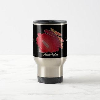 Red Passion Spirals Zest for Life Travel Mug