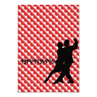 Red Passion Tango Latin Dance Invitation