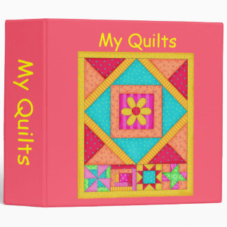 Red Patchwork Quilt Binder Album