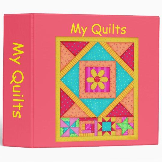 Red Patchwork Quilt Binder Album