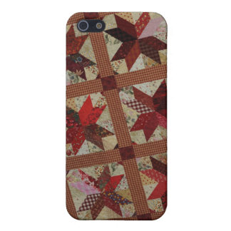 Red Patchwork Scrap Quilt iPhone 5/5S Case