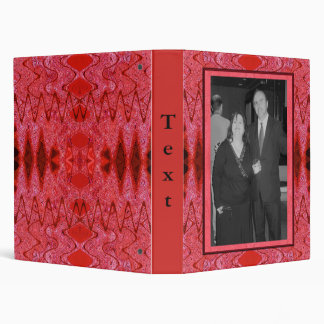 red pattern binders