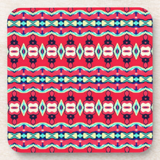 Red Pattern Coasters