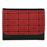 Red Pattern Design Wallet For Women
