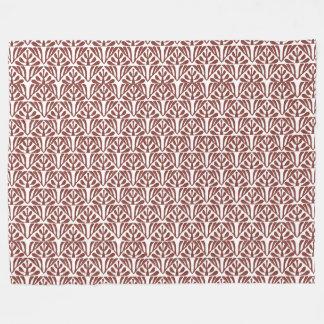 Red Pattern Fleece Blanket