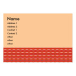 red pattern large business cards (Pack of 100)