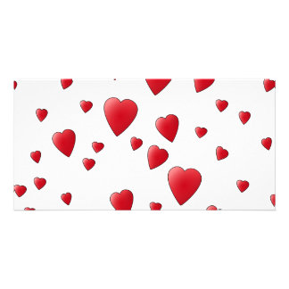 Red Pattern of Love Hearts. Card