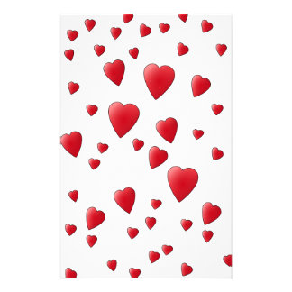 Red Pattern of Love Hearts. Stationery