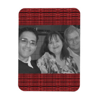 Red pattern photo frame magnet