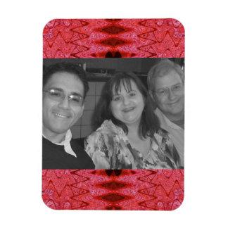 red pattern photoframe magnet