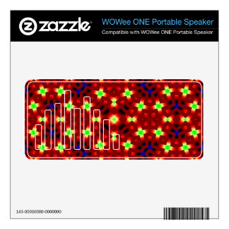 Red pattern with blue and light green skins for WOWee speakers