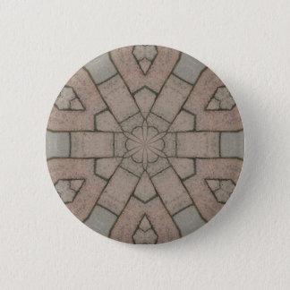 red pavers gardners kaleidescope abstract art pinback button