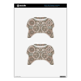 red pavers gardners kaleidescope abstract art xbox 360 controller skins