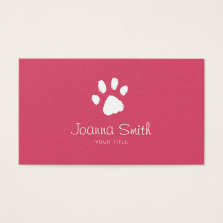 Red Paw Dog Walking Pet Sitting Vet Appointment Business Card