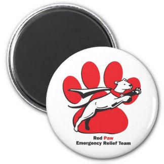 Red Paw essentials 2 Inch Round Magnet
