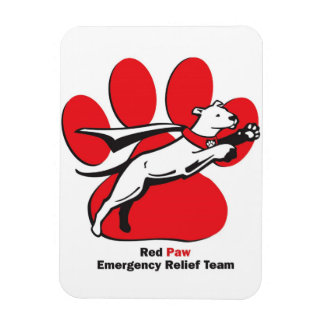 Red Paw Magnet