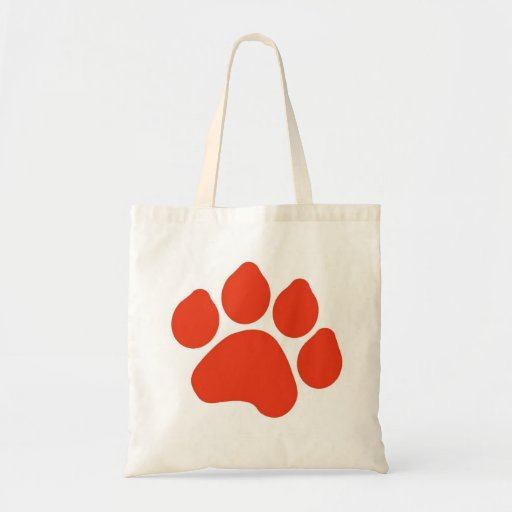 Red Paw Print Bag