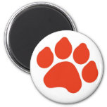 Red Paw Print Magnet