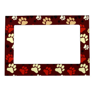 Red Paw Print Magnetic Frames