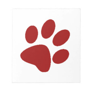 Red Paw Print Notepad
