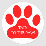 Red Paw Print Stickers