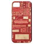 Red pcb circuit boart iPhone 5 cover