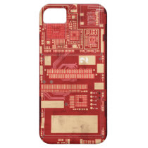 Red pcb circuit boart iPhone SE/5/5s case
