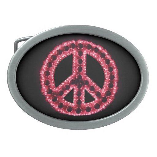Red Peace Belt Buckle