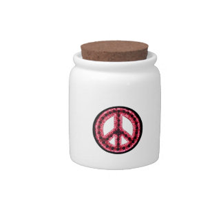 Red Peace Candy Jar
