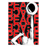 """""""Red Peace"""" Chubby Card Large Business Cards (Pack Of 100)"""