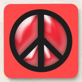 Red Peace Coasters