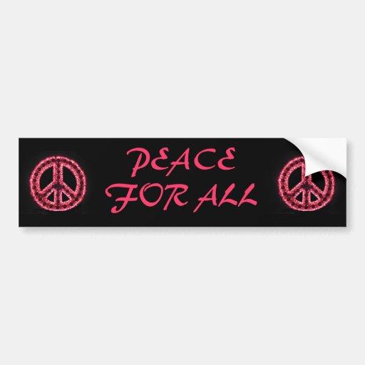 red peace for all bumper sticker car bumper sticker