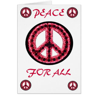 red peace for all greeting card
