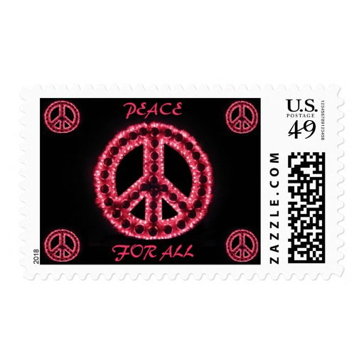 red peace for all postage
