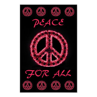red peace for all poster