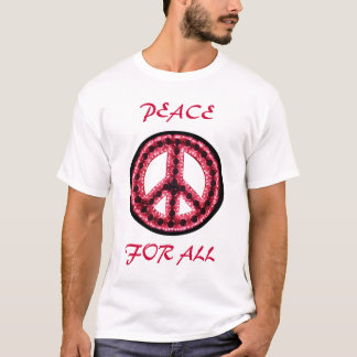 red peace for all tee
